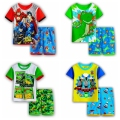 Kids Superhero Pyjamas Child Pijamas Sleeping Wear Children's Cartoon Thomas Pajamas for Boys Girls Summer Short-sleeved
