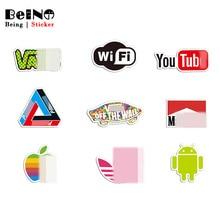 bde795387 Logotipo da marca Adesivo Do Youtube Wi-fi À Prova D  Água Adesivo Laptop
