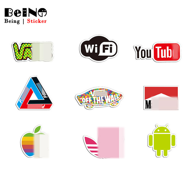 Brand Logo Youtube Sticker Wifi Sticker Waterproof Suitcase Laptop Guitar Luggage Skateboard Bicycle Toy Lovely Funny Stickers