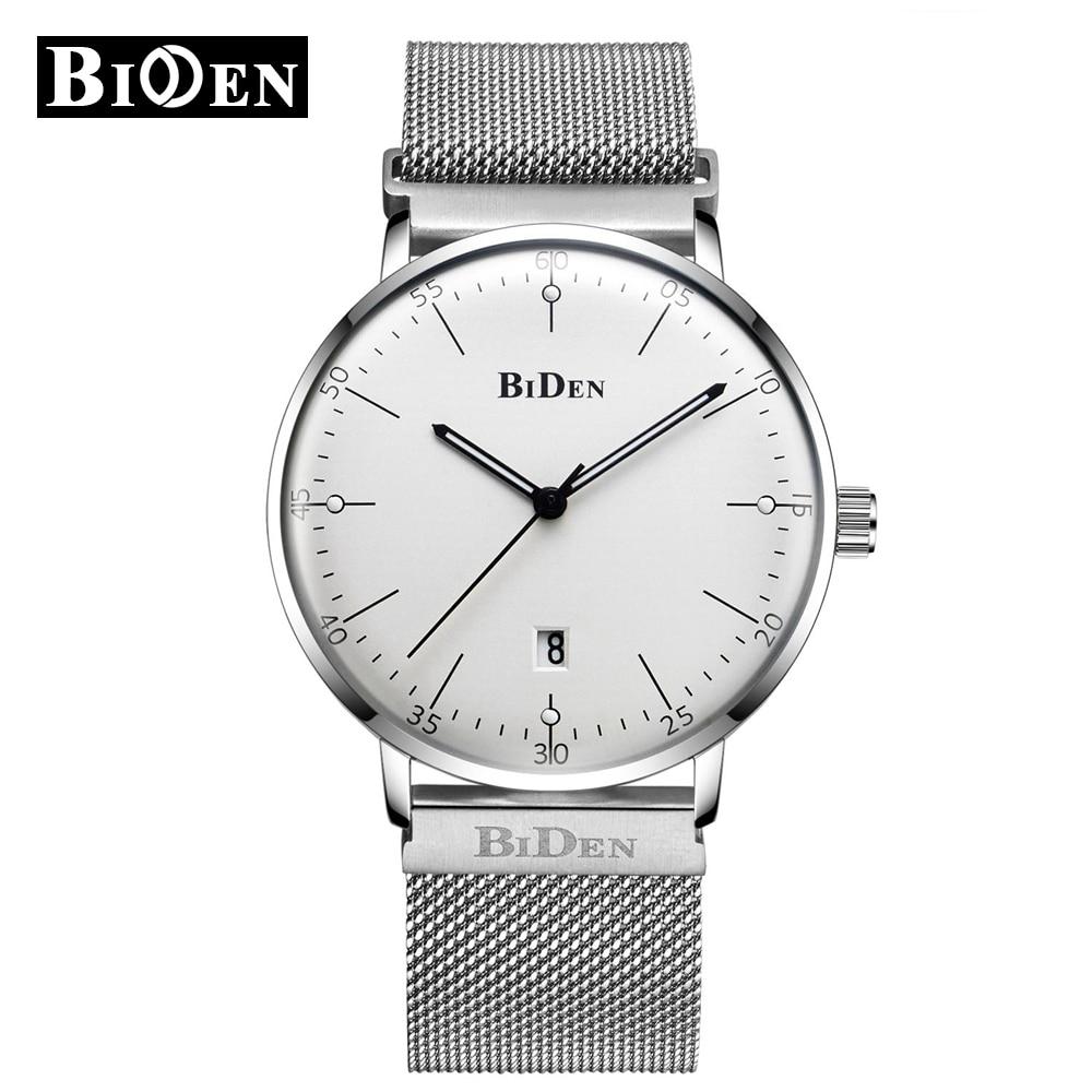 f24e32c6c76 Relógios dos homens de negócios BIDEN Moda Casual Calendário Homens Relógio  de Quartzo Analógico Relógios De