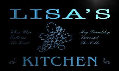 x2011-tm Lisas Kitchen Custom Personalized Name Neon Sign Wholesale Dropshipping On/Off Switch 7 Colors DHL