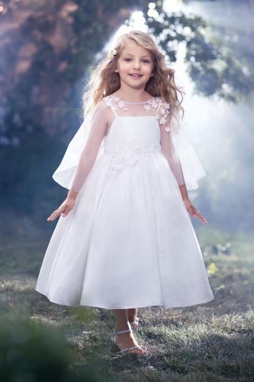 Здесь продается  Tulle First Communion Dresses for Girls A-Line Mother Daughter Dresses Appliques Ankle-Length Flower Girl Dresses for Weddings  Детские товары