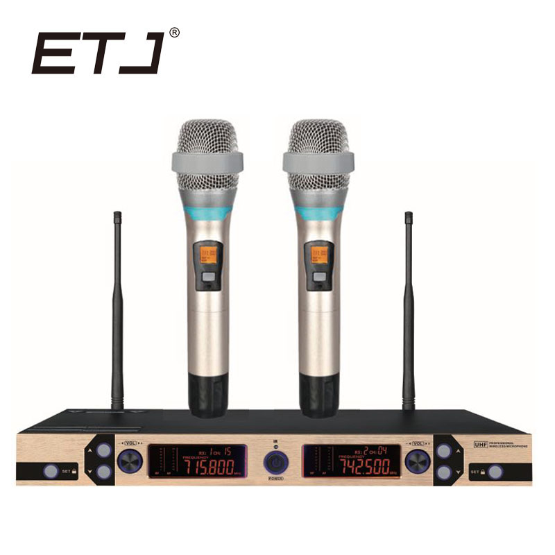 Free shipping! New High Quality Professional Dual Wireless Microphone System stage performances a two wireless microphoneFree shipping! New High Quality Professional Dual Wireless Microphone System stage performances a two wireless microphone