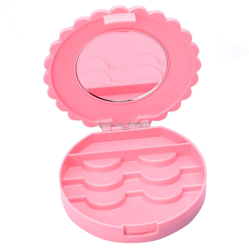 3 Pairs Empty Lash Case, False Eyelashes Packing Box, Eyelash Storage Case Bowknot Pink Color Portable Compact, 10 Cases/Lot spark storage bag portable carrying case storage box for spark drone accessories can put remote control battery and other parts