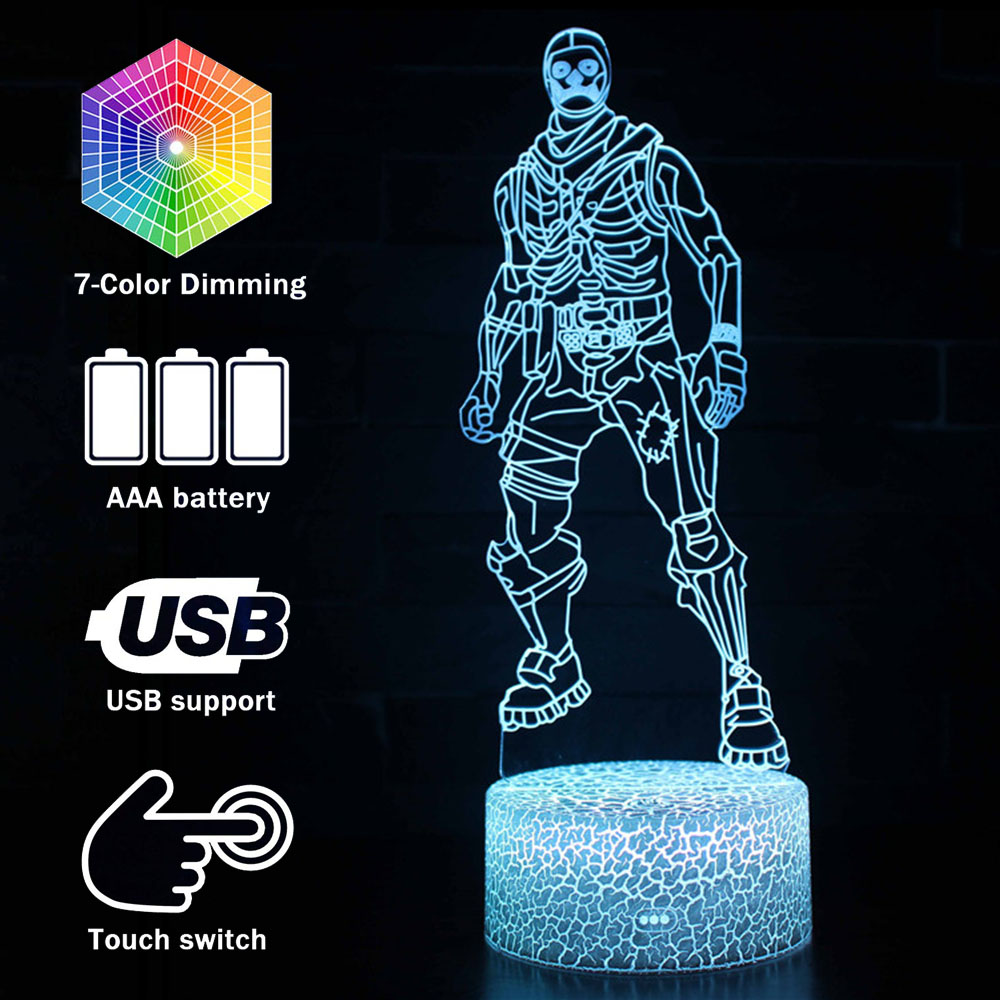 Magiclux Novelty Lighting 3D Illusion LED Lamp Fortress Skull Night Lights For Kids Bedroom Decoration Creative Gift Lamps