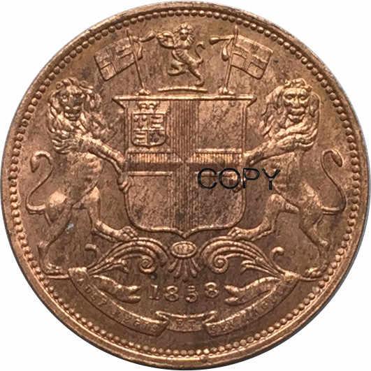 Société East British India   En cuivre rouge un quart, Anna 1858 pièces de monnaie imprimées personnalisées