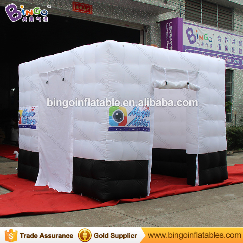3M * 3M * 2.4M Inflatable Car Roof Tents Inflatable LED Photo Booth Kiosk Tent for sale with Free LED Light outdoor toy