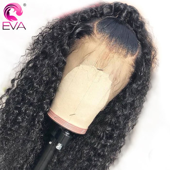 Pre Plucked Curly Full Lace Human Hair Wigs With Baby Hair Glueless Full Lace Wigs Bleached Knots Brazilian Remy Hair Eva Wigs