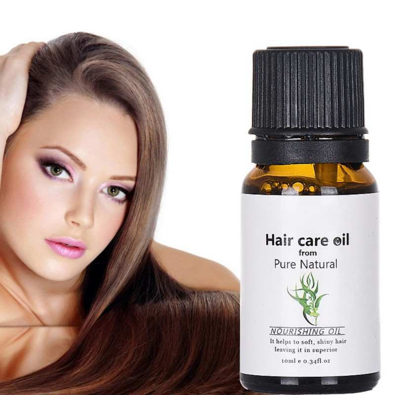 10ML Natural Pure Moroccan Argan Essence Oil Hair Oil Care Essence Repair Treatments for Dry Hair Types and Scalp Treatment