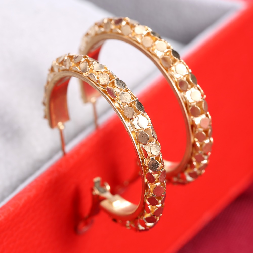 gold color Hoop Earrings Basketball Women Wives Earring Celebrity Wedding Earring Gold Earrings For Women