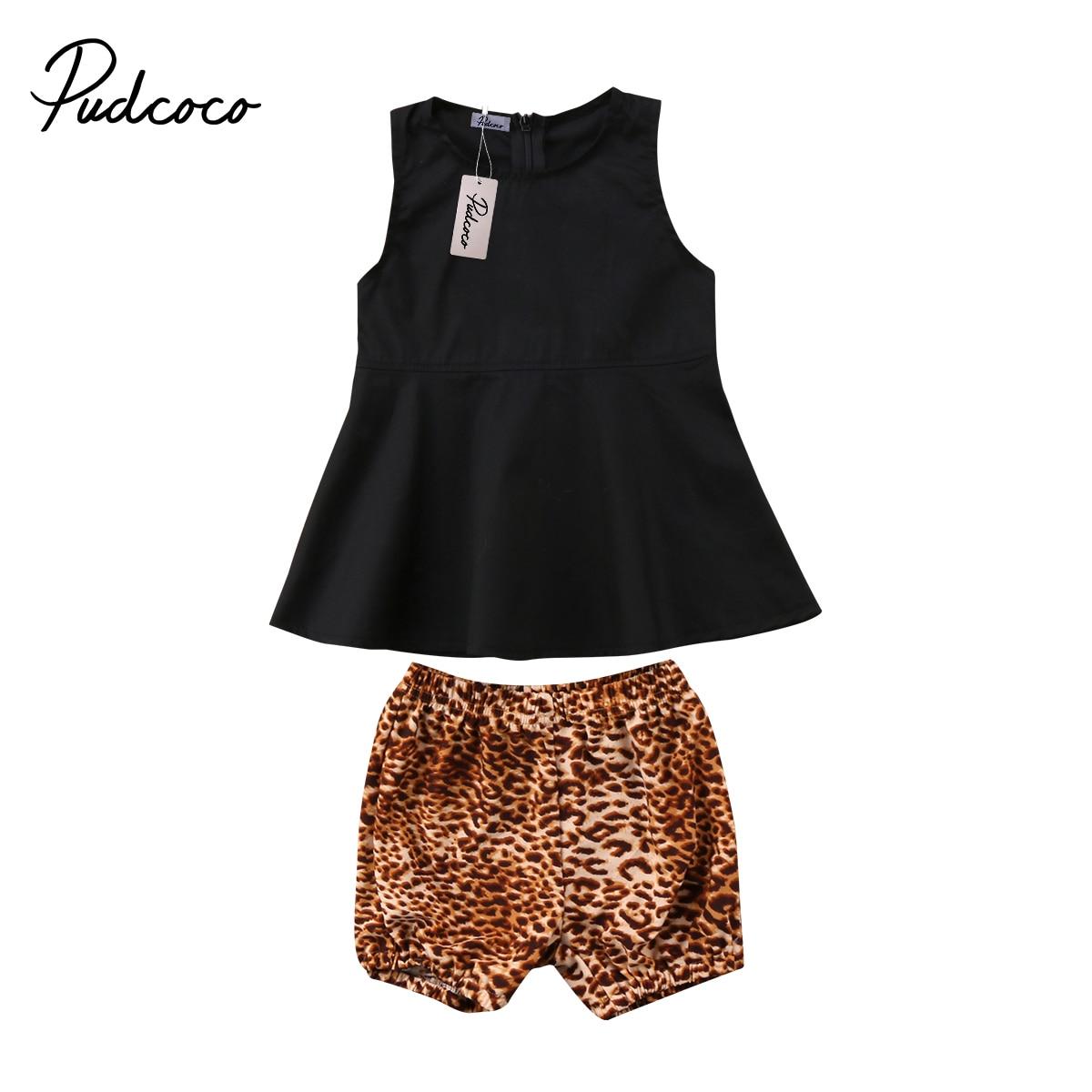 Pudcoco 2pcs Newborn Kid Baby Girls Clothes Summer Tops Dress Shorts Pants Outfit Set 0-24Months Helen115