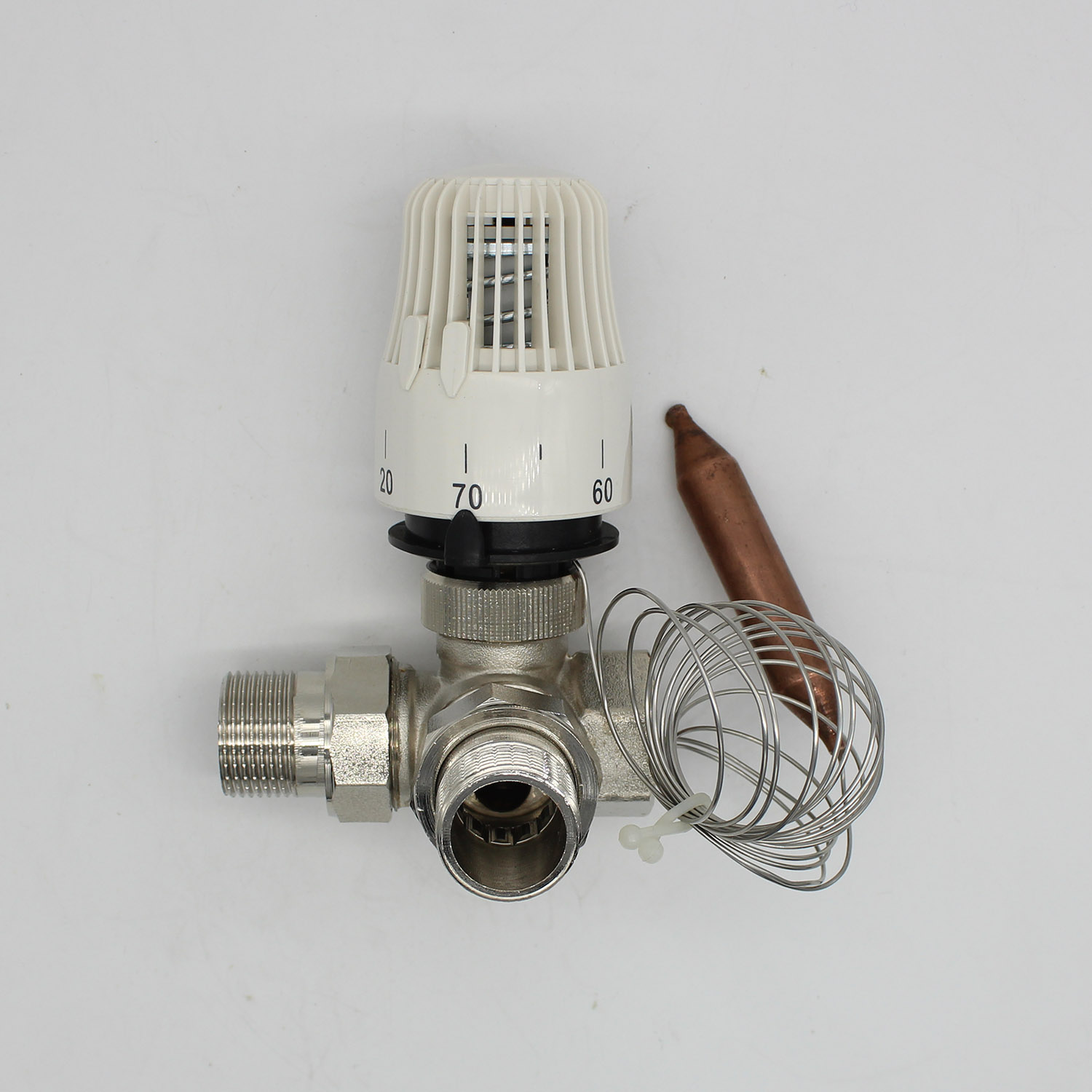 Energy saving 30-70 degree control Floor heating system thermostatic radiator valve M30*1.5 Remote controller 3 way  valve DN20Energy saving 30-70 degree control Floor heating system thermostatic radiator valve M30*1.5 Remote controller 3 way  valve DN20