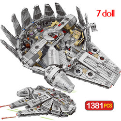 Star Millennium 79211 Falcon Figures Wars Model Building Blocks Harmless Bricks Enlighten Compatible Star Set Wars Toy