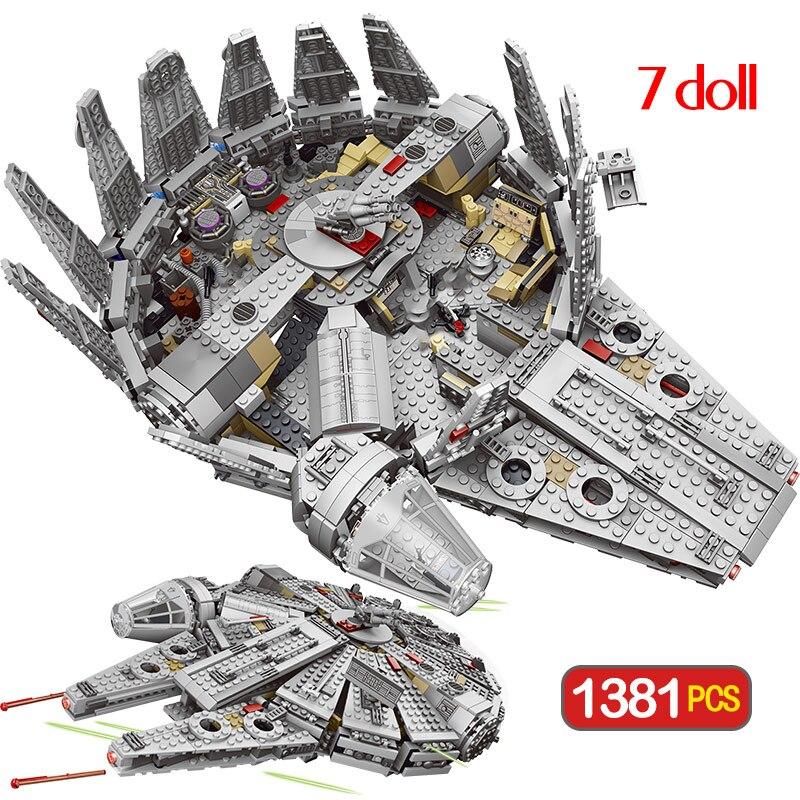 Star millénium Falcon chiffres Wars modèle blocs de construction briques inoffensives éclairer Compatible Star Set Wars jouet
