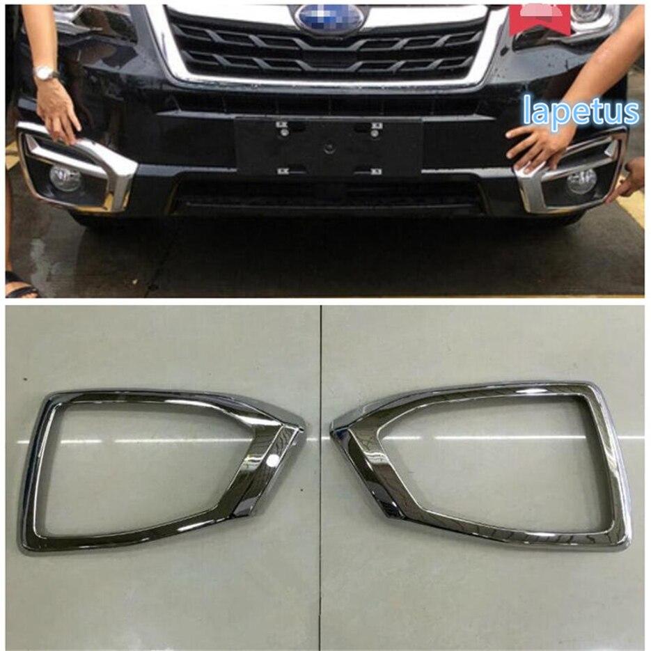 Lapetus Front Fog Lights Lamps Decoration Frame Cover Trim 2 Pcs Set Fit For Subaru Forester