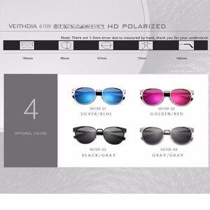 Image 4 - Солнцезащитные очки унисекс VEITHDIA, брендовые винтажные алюминиевые очки с поляризационными стеклами, для мужчин и женщин, модель 6109,