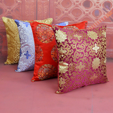 Free shipping 2piece/pack High quality Double-sided  100% Silk Fabric 18 Pillow Covers