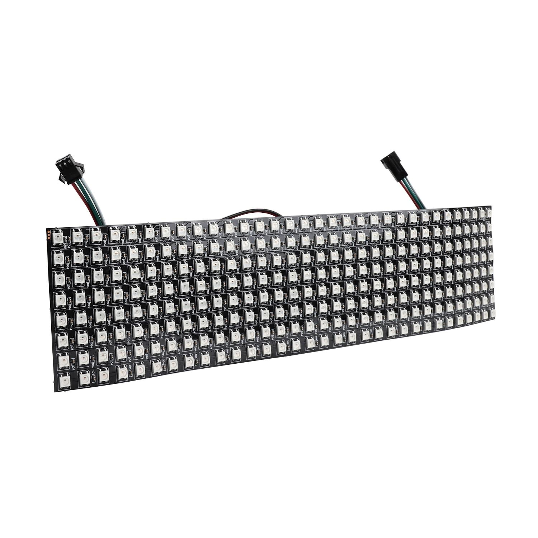 WS2812B Led Module Pixel Matrix 8*32 256LEDs Digital Flexible LED Programmed Panel Individually Addressable RGB Led Light JQ