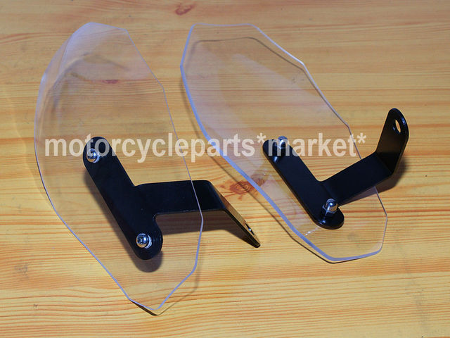 Free Shipping CUSTOM Clear Hand Guard Protector Shield For Harley Sporster XL 883 1200 Iron