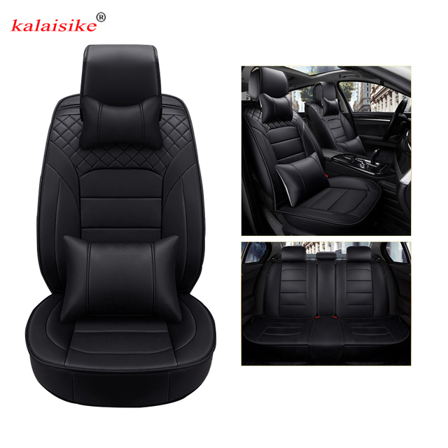 kalaisike leather universal car seat cover for BMW all model e39 f11 f30 f10 e46 e70 x1 x5 x6 x4 x3 car styling auto accessories