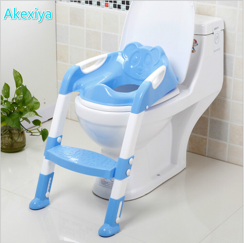 2016 New Design Portable Folding Ladder Toilet Baby Potty
