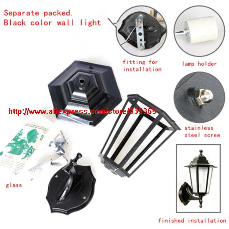 6pcs X 220v E27 aluminum waterproof IP44 LED outdoor wall light led outdoor garden light 20w projecting porch light without bulb
