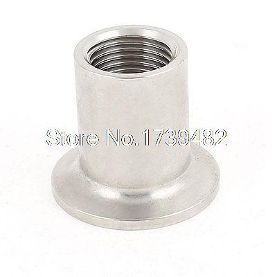 лучшая цена Stainless Steel 304 Vacuum KF25 Flange 1/2BSP Female Thread Adapter