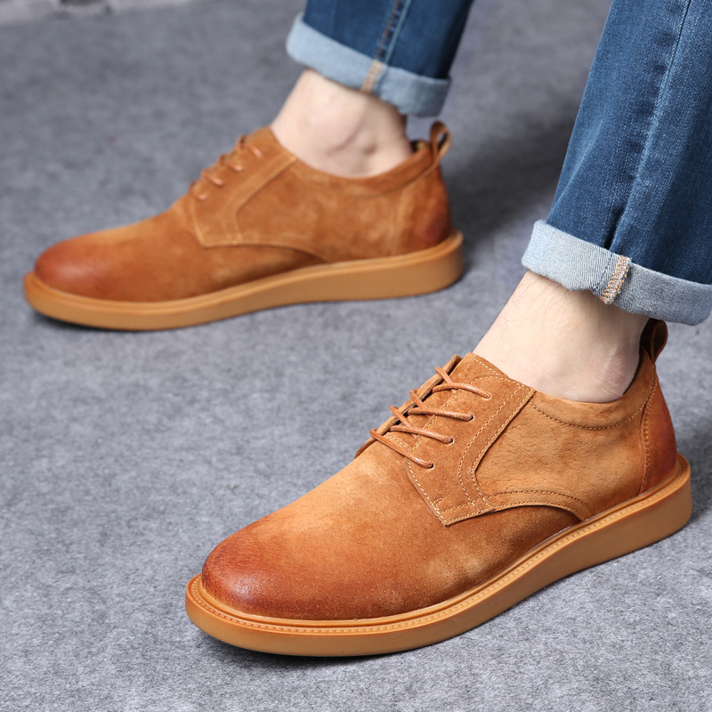 British Men business Shoes Casual Suede Leather Shoes Mens Loafers Black Oxford Shoes For Men Zapatos Hombre Big Size 45 ccharmix big size 47 50 mens suede leather loafers shoes men casual driving shoes leather mocassin spring dress flat oxford shoe