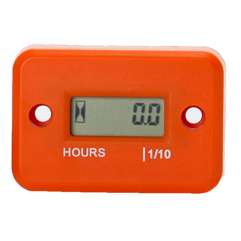 LCD Hour Meter Waterproof Digital for Dirt Quad Bike ATV Motorcycle Snowmobile jet ski boat pit bike motorbike MX marine Orange
