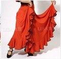 Full dress flamenco dance full dress shenp Camouflage skirt hemming