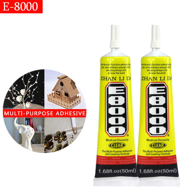 Cola E8000 Glue 50ml Clear Adhesive Stronger Multi Purpose Frame Sealant Touch Screen Diy Craft Jewelry Jewelery Glass Diy