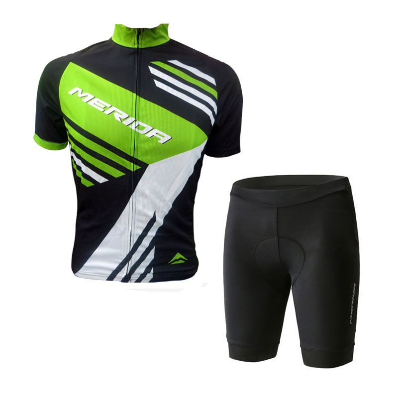 2018 Summer men MERIDA Cycling Jersey and shorts Short Sleeve Suit cycling clothing Ropa Ciclismo MTB Bike Wear Culotte Set G104 xintown 2018 cycling jersey clothing set summer outdoor sport cycling jersey set sports wear short sleeve jersey bib shorts sets