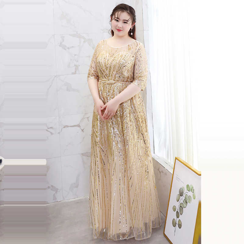 4a373fef9fb5d It's YiiYa Evening Dress 2018 Plus Size O-Neck Half sleeve Bling sequined  A-Line Fashion Designer Girls Party Dress DM034