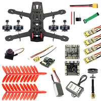 250 Full Set DIY FPV Quadcopter Camera Drone 250MM Carbon Fiber Frame SP Racing F3 FC Flycolor Raptor BLS Pro 30A ESC 700TVL