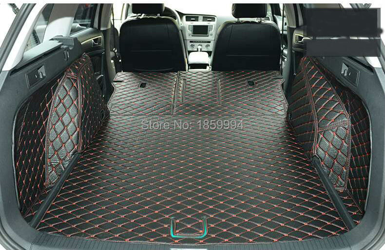 for VW GOLF7 SW  Variant rear tail car trunk mat durable boot carpets car rear trunk security shield shade cargo cover for volkswagen vw golf 6 7 mk6 mk7 black beige