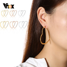 Vnox Basic Heart Shaped Hoop ต่างหูสแตน(China)
