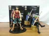 2PCS SET Japanese Anime One Piece Luffy Zoro High Quality Action Figure Collectible Model Toy For
