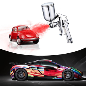 Image 5 - 400ML Spray Gun Professional Pneumatic Airbrush Sprayer Alloy Painting Atomizer Tool With Hopper For Painting Cars by PROSTORMER