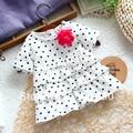 Verão criança do sexo feminino t top t-shirt do bebê bolo de mangas curtas t