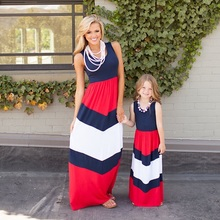 купить summer family look mother and daughter dress mommy and me clothes matching outfits mama mom mum and daughter dresses clothing по цене 646.78 рублей
