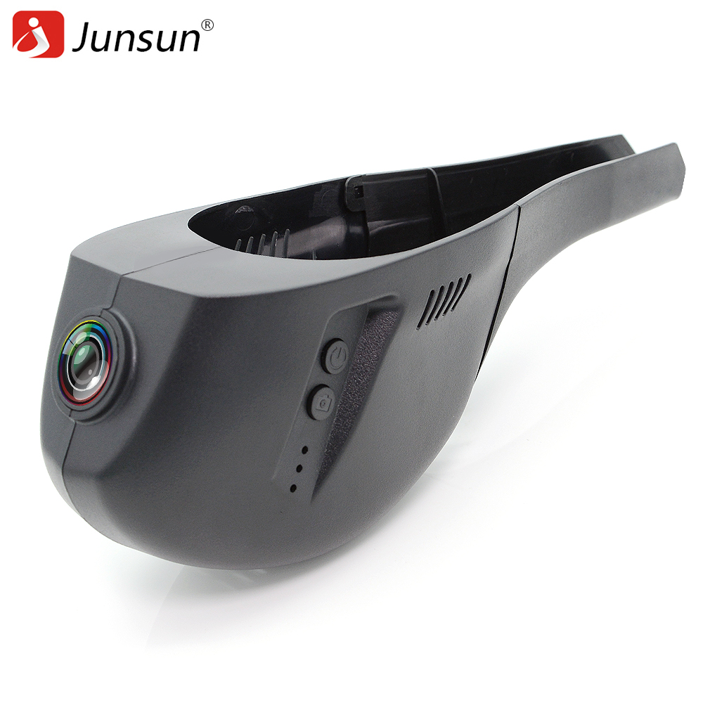 Junsun S7 WiFi Car DVR Camera Video Recorder registrator Novatek 96655 IMX 322 Full HD 1080p dash cam for Volkswagen Golf 7 2015 wifi car dvr dash cam camera digital video recorder full hd 1080p novatek 96655 imx 322 for vw touareg 2014 2015 registrator