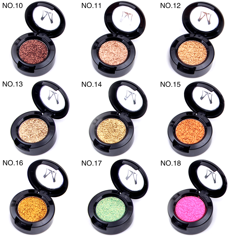 12 Color Monochrome Shimmer Eye Glitter Powder Waterproof Makeup Satin Flash Gold Red White Blue Eyeshadow Palette New With A Long Standing Reputation Eye Shadow