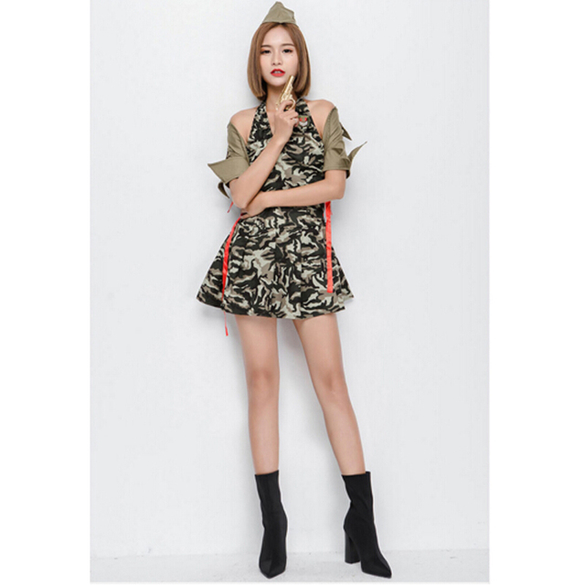 SESERIA New Arrive Sexy Army Soldier Costumes Women Halloween Costumes Camouflage  sc 1 st  AliExpress.com & SESERIA New Arrive Sexy Army Soldier Costumes Women Halloween ...