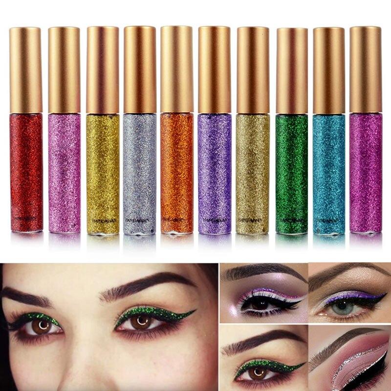 HANDAIYAN Shimmer Ombre À Paupières Liquide Imperméable À L'eau Durable Cométaire Glitter Eye-Liner Stylo Filles Lady Yeux Maquillage Outil H7JP