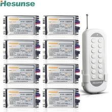 Y-F211C1N8 220 V 8 Canais Sem Fio RF Interruptor de Controle Remoto Código de Aprendizagem Interruptor Through Walls 110 V