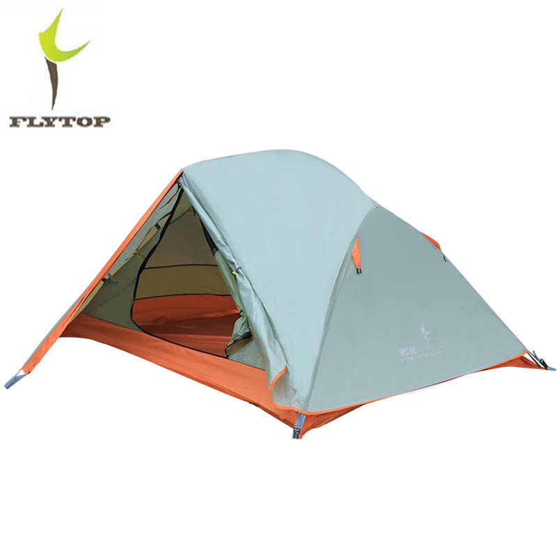 FLYTOP ultralight Outdoor tent 1-2 person recreation camping equipment Hiking Fishing Beach double layer tent waterproof 2.3kg mobi outdoor camping equipment hiking waterproof tents high quality wigwam double layer big camping tent