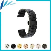 цена на Stainless Steel Watch Band 20mm 22mm for Ticwatch 1 2 42mm 46mm Quick Release Metal Strap Loop Wrist Belt Bracelet Black Silver