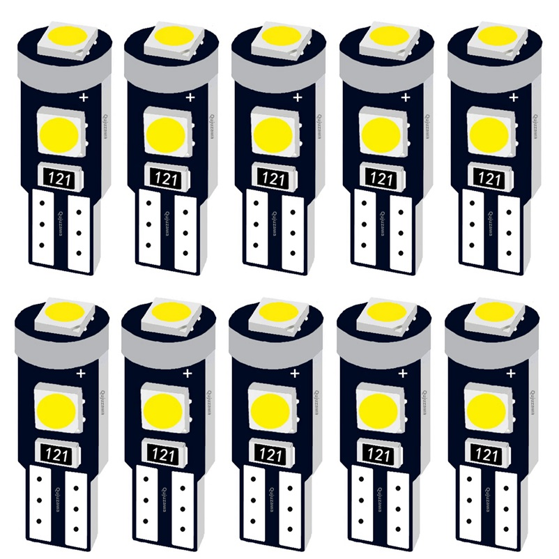 10Pcs T5 W1.2W 27 74 86 206 Super Bright 3 SMD 3030 LED Car Interior Light Auto Side Wedge Dashboard Gauge Instrument Lamp Bulb(China)
