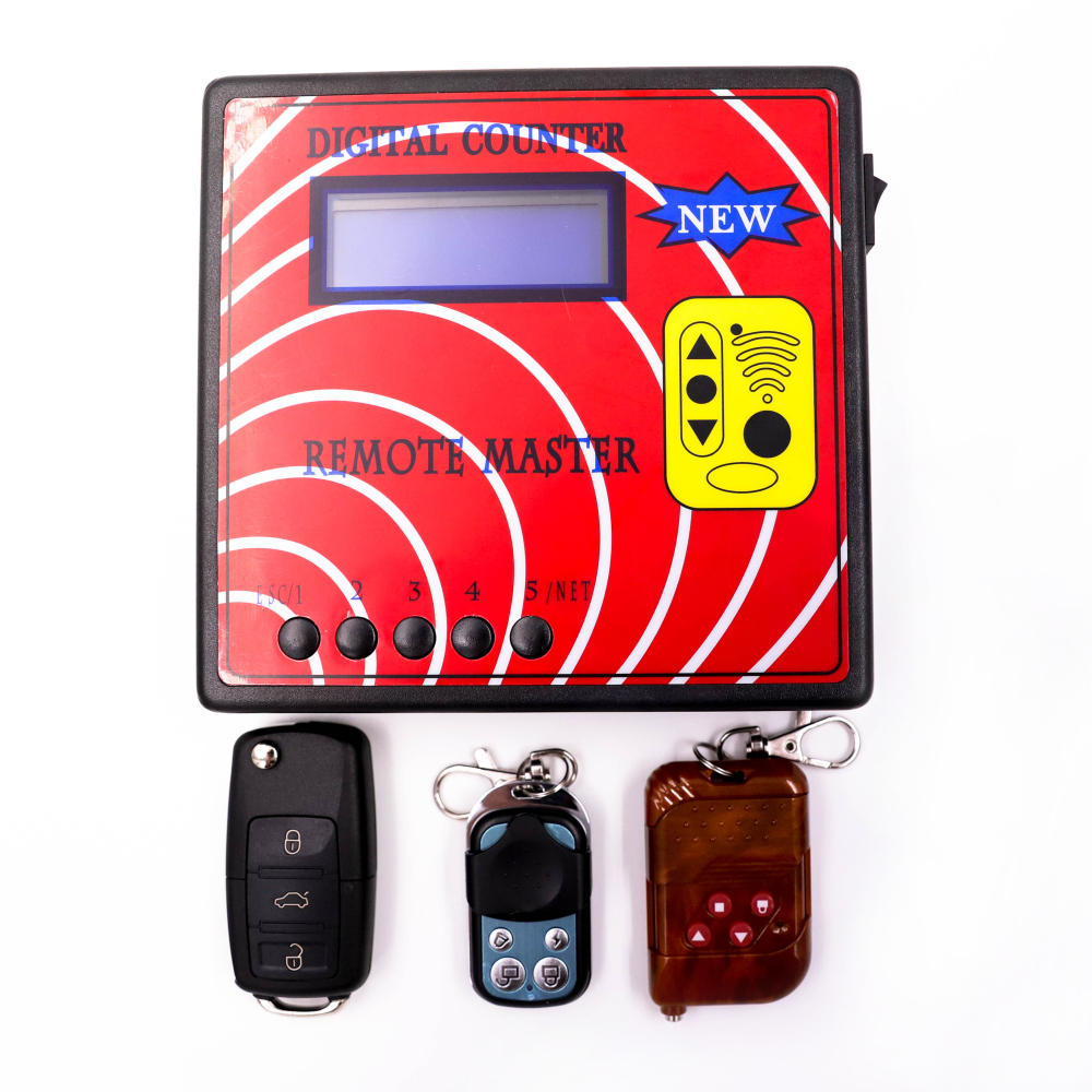 New Digital Counter Remote Master Frequency Tester Wireless Remote Copier Regenerate RF Copy Tool with 3pcs Remote Key