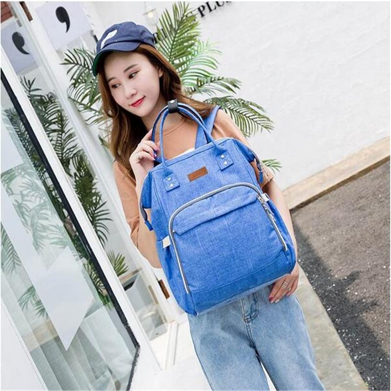 HTB1HASdbcvrK1Rjy0Feq6ATmVXa5 23 Colors Fashion Mummy Maternity Nappy Bag Large Capacity Baby Diaper Bag Travel Backpack Designer Nursing Bag for Baby Care
